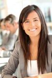 Donna di affari sorridente Immagine Stock Libera da Diritti