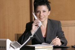 Donna di affari sorridente Immagine Stock
