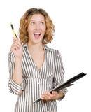 Donna di affari sorridente dei giovani riuscita Fotografia Stock Libera da Diritti