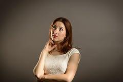 Donna di affari sotto pressione Fotografia Stock