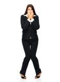 Donna di affari spaventata fotografie stock libere da diritti