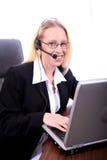 Donna di affari - Spoksewoman corporativo fotografia stock libera da diritti