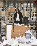 Donna di affari stanca Fotografie Stock Libere da Diritti