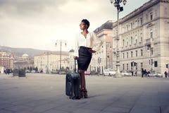Donna di affari straniera Fotografie Stock Libere da Diritti