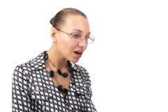Donna di affari stupefacente Fotografie Stock Libere da Diritti
