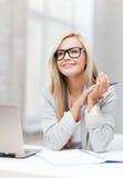 Donna di affari su una riunione Immagine Stock Libera da Diritti