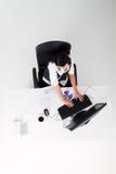 Donna di affari sul lavoro Fotografia Stock Libera da Diritti