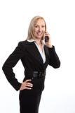 Donna di affari sul telefono Immagine Stock Libera da Diritti