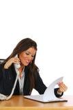 Donna di affari sul telefono Fotografia Stock Libera da Diritti