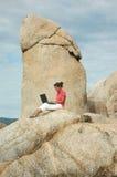 Donna di affari sulla vacanza Fotografia Stock