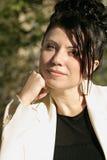 Donna di affari Sunlit Fotografia Stock
