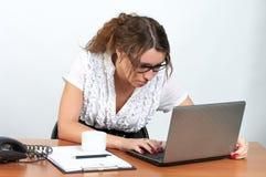 Donna di affari sveglia Fotografia Stock