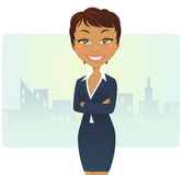 Donna di affari sveglia Immagini Stock Libere da Diritti