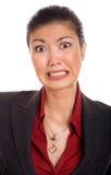 Donna di affari turbata Fotografia Stock