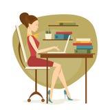 Donna di affari in ufficio Illustrazione di vettore Illustrazione Vettoriale