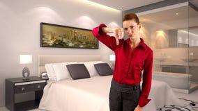 Donna di affari in un hotel Immagine Stock Libera da Diritti