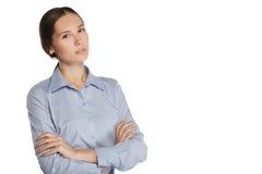 Donna di affari in un vestito Immagini Stock Libere da Diritti