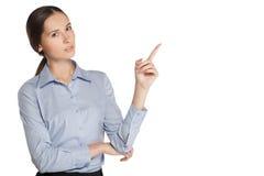 Donna di affari in un vestito Fotografia Stock Libera da Diritti