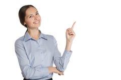 Donna di affari in un vestito Immagine Stock Libera da Diritti