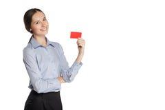 Donna di affari in un vestito Fotografie Stock Libere da Diritti