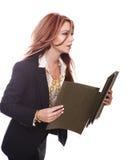 Donna di affari in una fretta Fotografie Stock Libere da Diritti