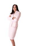 Donna di affari in vestito dentellare Immagini Stock Libere da Diritti