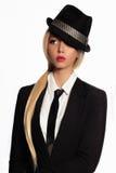 Donna di affari in vestito ed in legame convenzionali immagine stock