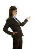Donna di affari in vestito scuro immagini stock libere da diritti