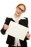 Donna di affari in vetri Fotografia Stock