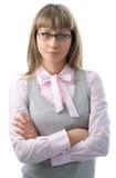 Donna di affari in vetro Immagini Stock