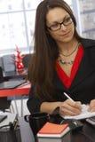 Donna di affari Working Fotografia Stock