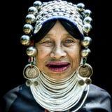 Donna di Akha Fotografia Stock