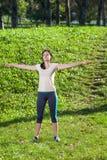 Donna di allenamento Immagine Stock Libera da Diritti