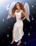 Donna di angelo Fotografie Stock Libere da Diritti