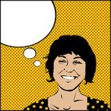 Donna di arte di schiocco royalty illustrazione gratis