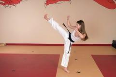 Donna di arti marziali Fotografie Stock