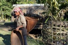Donna di Arunachal Pradesh Fotografia Stock
