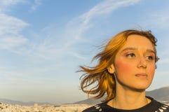 Donna di Atene Immagini Stock Libere da Diritti