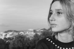 Donna di Atene fotografia stock libera da diritti