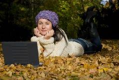 donna di autunno Fotografia Stock