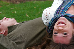 Donna di autunno Fotografie Stock Libere da Diritti