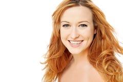 Donna di bellezza con capelli dorati brillanti Immagini Stock Libere da Diritti