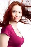 Donna di bellezza con capelli giusti Immagini Stock Libere da Diritti