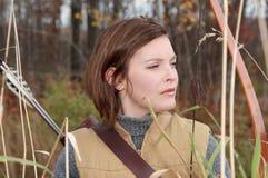 donna di caccia immagini stock