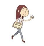 Donna di camminata Fotografie Stock