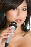Donna di canto Fotografia Stock