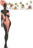 Donna di colore Immagine Stock