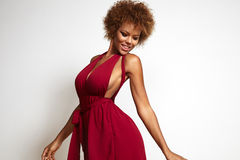 Donna di colore di dancing Immagini Stock Libere da Diritti