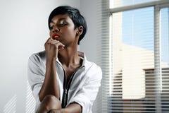 Donna di colore di mattina Immagini Stock Libere da Diritti