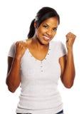 Donna di colore felice Fotografia Stock Libera da Diritti